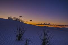 Sunset at White Sands